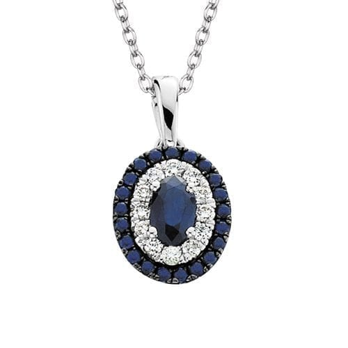 saphire and shopby jewellers pendants halo white necklace sapphire diamond necklaces in qp pendant gold